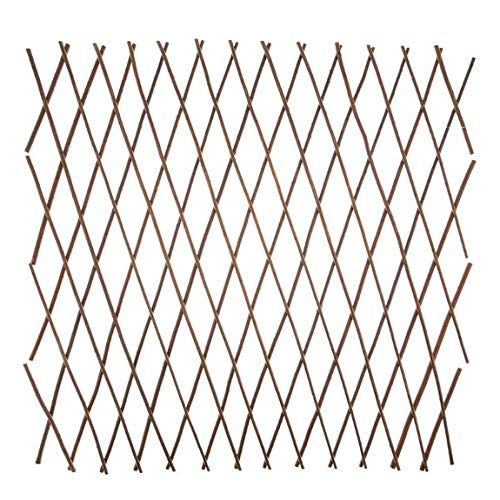 A2Z Home Solutions Lovely Addition Garden Outdoor Expanding Willow Trellis Screening Fences- 180x60cm (10 cm spacing)- Brown