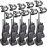 Baofeng BF-888S 10Pcs Two Way Radio with Tenway Covert Air Acoustic Tube Earpiece