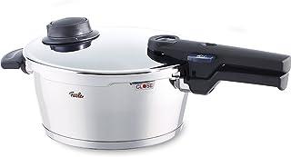 Fissler vitavit comfort / Olla a presión (3,5 litros, Ø 22 cm) de acero inoxidable, 2 niveles de cocción, apta para cocinas de inducción, gas, vitrocerámica y eléctricas