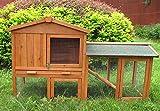 BUNNY BUSINESS The Grove Red Cedar Double Decker Rabbit/Guinea Pig Hutch and Run EXTRA DEPTH