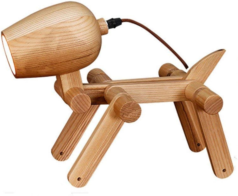 Tischlampen Klapp Schreibtischlampe, Holz Hund-frmige Beleuchtung Dekorative Tischlampe Postmodern Wohnzimmer Schlafzimmer Kinder Schreibtischleuchten Massivholz Junge Mdchen Mode Lampen