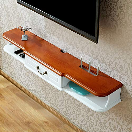 ZPWSNH Wandmeubel wifi-router plank set-top box beugel creatieve opbergbox rack TV console Float TV-stand aan de muur