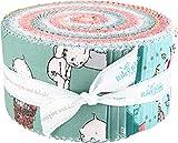 Sew Kewpie Rolie Polie 40 6,3 cm Streifen Jelly Roll Riley