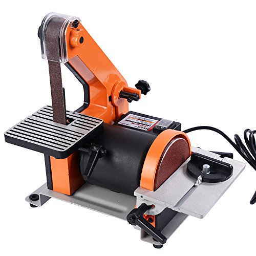 Goplus Belt and 5-Inch Disc Sander, 1 x 30-Inch, 1/3HP Polish Grinder Sanding Machine