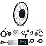 """8. RICETOO 48V 1500W 24"""" Front Wheel Electric Bicycle Conversion Motor Kit with Brushless Gearless Hub Motor with KT-LCD8H Color Display."""