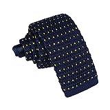 JUNGEN Corbata de Punto para Hombres Mujer Corbata Estampada con Patrón de corazón Corbata Estrecha Corbata Informal Accesorios de Ropa Size 145 * 5.5cm (Azul 3)
