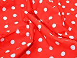 Polycotton für Kleidung, gepunktet, ca.114cm breit,
