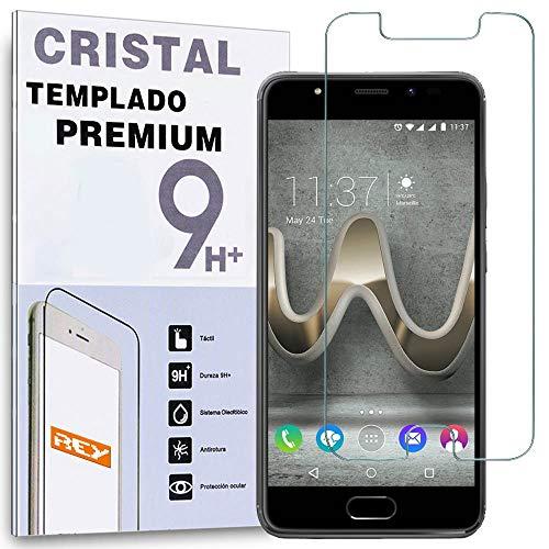 REY Protector de Pantalla para WIKO U Feel Prime/UFEEL Prime, Cristal Vidrio Templado Premium