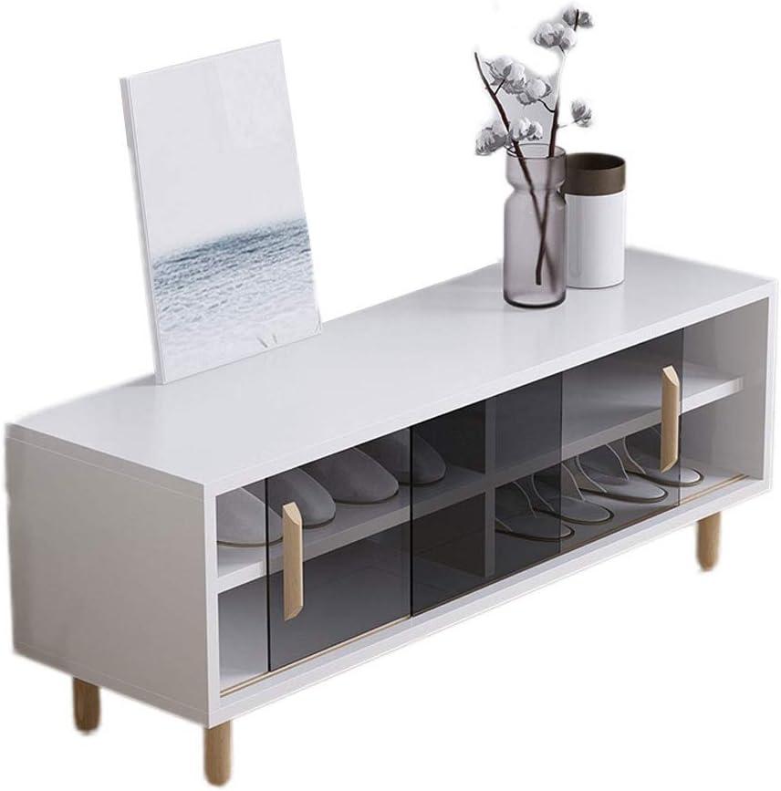 Hallway Shoe Recommendation Storage Mesa Mall Bench 2-Tier TV Wood Shelf Cabinet