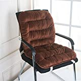 Niedriglehner Auflage 40x80cm Sitzkissen Stuhlauflage Gartenstuhl Sitzpolster Polster Rückenkissen Stuhlkissen (Braun)