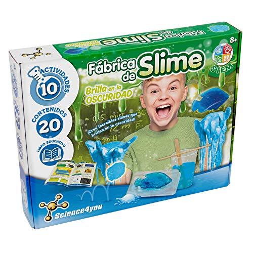Science4you-Fábrica de Slime, Brilla en la Oscuridad, Multicolor (80002077)