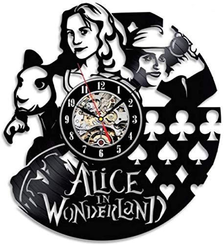 Wonderland thema creatieve vinyl wandklok wandklok wekker grote wandklok rustig goed cadeau-5