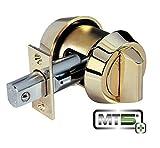 Mul-T-Lock MT5+ Hercular Single Cylinder deadbolt w/Thumb Turn - Bright Brass