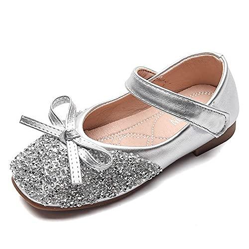 Lovejin Niña Zapatos de Princesa Velcro Zapatos de Fiesta Disfraz Boda Ceremonia...