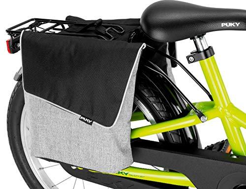 Puky DT 3 Kinder Fahrrad GepÀcktrÀgertasche/Doppeltasche grau/schwarz