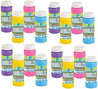 Neliblu Bulk Party Bubbles - 12 Pack 2 Oz Bubble Bottles with Wands - Summer Fun Toys, Party Favors, Goody Bag Stuffers Assorted Colors