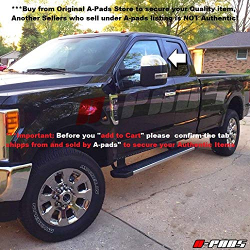 A-PADS Chrome Mirror Covers for Ford F250 F350 + Super Duty 2017 2018 - Upper...