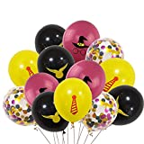 Harry Potter Pattern Balloons, 40 PCS 12 Inch Latex Balloons Harry Potter Color Confetti Balloons Kit for Baby Children Kids Birthday Party Baby Shower Harry Potter Theme Party Supplies