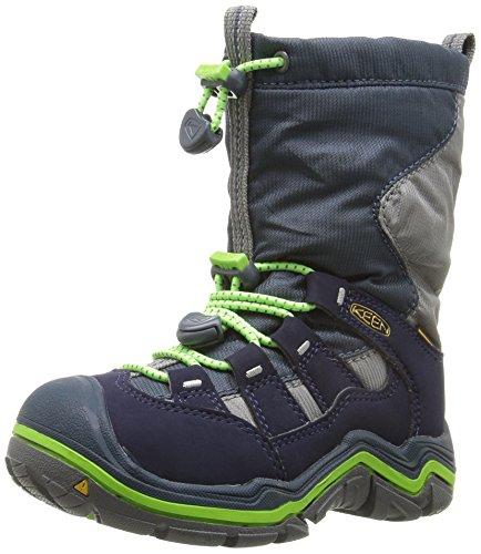 KEEN Winterport II WP, Chaussures de Randonnée Hautes Mixte Enfant, Bleu (Midnight Navy/Jasmine Green), 24 EU
