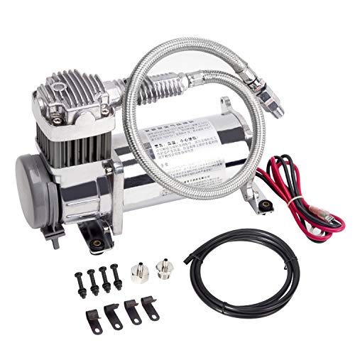 Tianya TY Heavy Duty Onboard Air Compressor, 12 Volt -150PSI Max Working Pressure, Can Be Used for Vehicle Suspension System Modification,Universal Replacement Tools Fits SUV/Pickup Trucks/Jeep