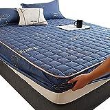 HPPSLT Protector de colchón/Cubre colchón Acolchado, antiácaros, Sábana más Gruesa de una Sola Pieza Transpirable-9_180 * 200cm