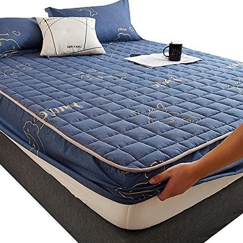 HPPSLT Protector de colchón/Cubre colchón Acolchado, antiácaros, Sábana más Gruesa de una Sola Pieza Transpirable-9_200 * 220cm