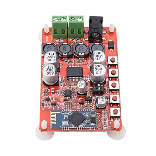 Bindpo Placa amplificadora de Audio Bluetooth, TDA7492P 50W * 2 Módulo de Placa amplificadora de Receptor de Audio Bluetooth inalámbrico de Doble Canal, para Altavoz de 4/6/8/16 ohmios