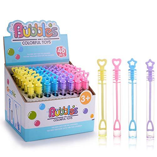 EKKONG Boda burbujas, 48 piezas varita de boda tubo burbuja perfecto para boda, cumpleaños, día de San Valentín o como un regalo, 48 Pieces