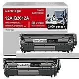 Compatible 2 Pack 12A   Q2612A Toner Cartridge Black Replacement for HP Laserjet 1020(Q5911A) 1022(Q5912A) 1022n(Q5913A) 1022nw(Q5914A) 1010(Q2640A) 1012(Q2641A) 1015(Q2642A) Printer Toner Cartridge.