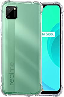 Amazon Brand - Solimo Mobile Cover (Soft & Flexible Shockproof Back Cover with Cushioned Edges)Transparent for Realme C11