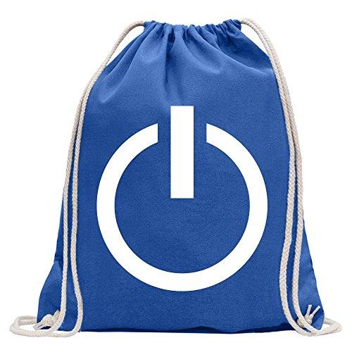 Kiwistar Spegni – Encendido – u. Interruptor Divertido Mochila Deportiva para el Fitness. Gymbag para la Compra de algodón con cordón, Unisex Adulto, Reale, 37 x 46cm