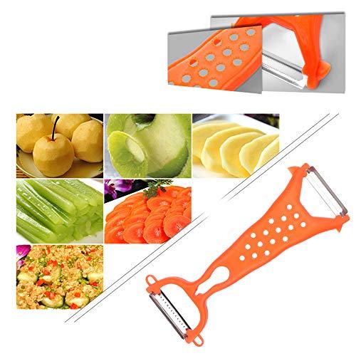 Runy Magic Dubbele Hoofd Fruit Plantaardige Peeler Schil Mes Slijpen Gereedschap Aardappel Peeler Plastic Peeler Slicer Snijmachine Schaafmachine
