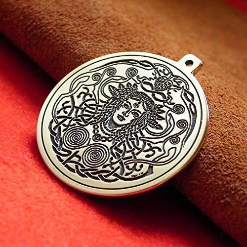 Pendant Freyja is a goddess associated with love, sex, beauty, fertility, gold, seiðr, war, and death. Norse mythology