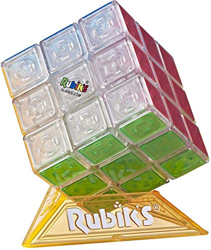 Hasbro Gaming Rubik's Cube Neon Pop 3 X 3 Puzzle for Kids Ages 8 & Up