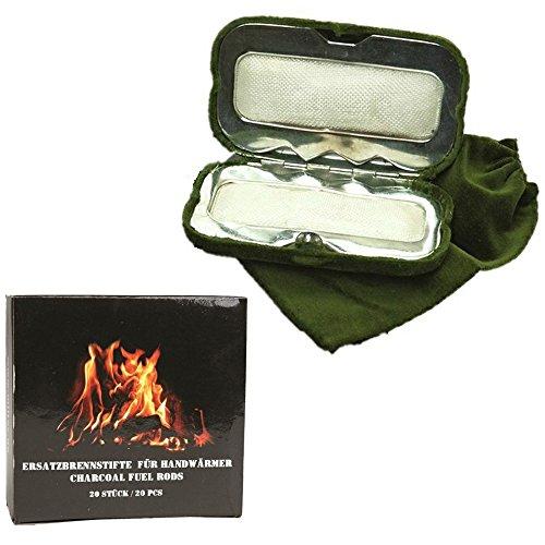 DD-Tackle Sparpack Handwärmer + 20 Brennstifte Taschenofen