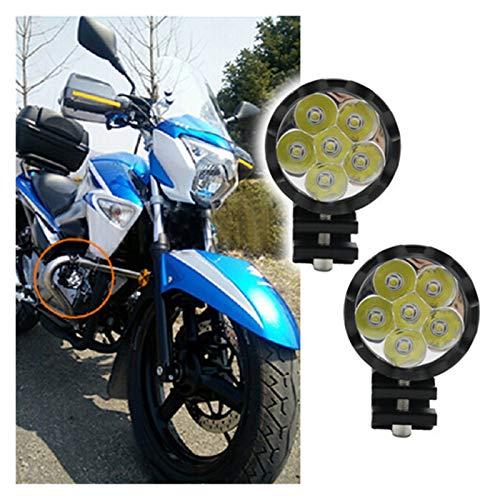 Motocicleta LED Faros Auxiliar Lámpara Motorbike Frente Spotlight Fog Spot Head Lámpara de luz Accesorio DC 12-80V (Color : Sky Blue)