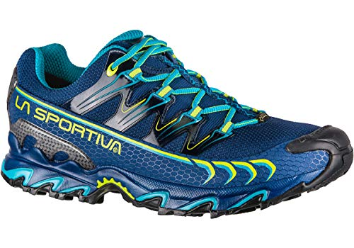 La Sportiva Ultra Raptor GTX, Zapatillas de Trail Running para Hombre, Multicolor (Indigo/Apple Green 000), 44.5 EU