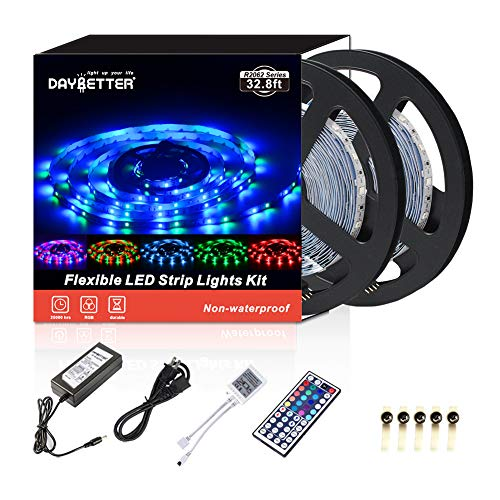 Daybetter SMD 3528 Led Strip Lights with 44 Key Remote( 2 Rolls of 16.4ft ) 10