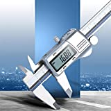 WEI-LUONG Calibrador de Pie de Rey Digital de Acero Inoxidable de 150 mm de Todo...