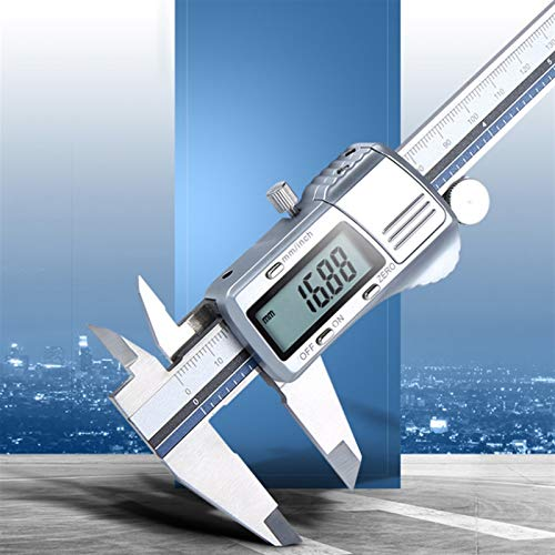 WEI-LUONG Calibrador de Pie de Rey Digital de Acero Inoxidable de 150 mm de Todo el Metal del calibrador electrónico de precisión medición Calibre Pachometer
