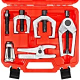 YSTOOL Front End Service Tool Set with Automotive Ball Joint Separator Tie Rod End Puller Pitman Arm Remover 5 PCS Removal Splitter Kit for Car SUV Light Truck Pickup