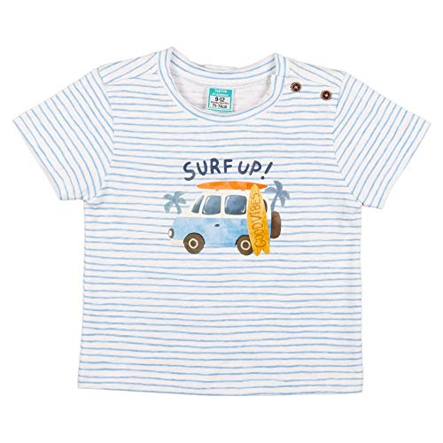 Top Top CETREO Camiseta, Listado, 3-6Meses para Bebés