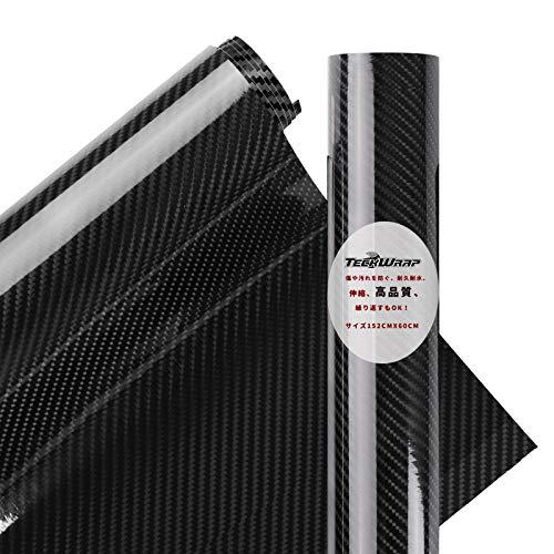 TECKWRAP 6D リアル ハイグレード 長さ152cm幅60cm カーボンシート REAL CARBON SHEET ブラック(黒) ハイグ...