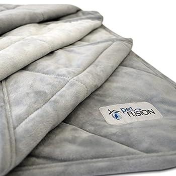 Couverture pour Chien Grande Taille Pet Plus Premium (135 x 107 cm). Peluche Micro réversible Gris. [100% Polyester Doux]