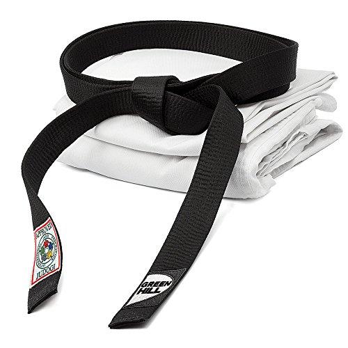 GREEN HILL Cintura Nera Omologata IJF Approved Judo GI Belt (320)