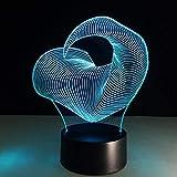 Wallfia Lustige Dosen 3D Illusion Lampe LED Nachtlicht Lampen,LED Nachtlicht Touch Sensor Licht 7 Farbeffekt Kinder niedlich Nachtlicht Schreibtischlampe Schlafzimmer Neujahr Geschenk