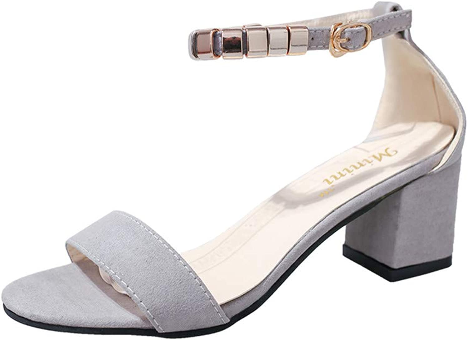 Niliyou Plus Size Summer Woman Sandals Metal Buckle Strap Summer shoes Open Toe Sandal
