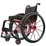 WANGXN Fauteuil Roulant autopropulsé Pliant en Alliage d'aluminium Wheelchair...