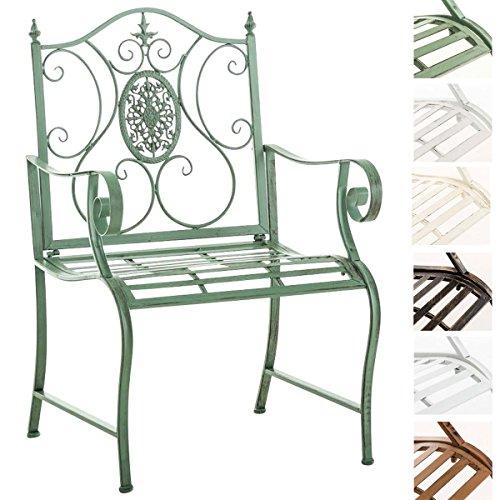 CLP Silla de Jardín Punjab en Estilo Antiguo con Apoyabrazos | Silla de Hiero en Estilo Rústico | Silla de Balcón Estilo Medieval | Color Verde Envejecido