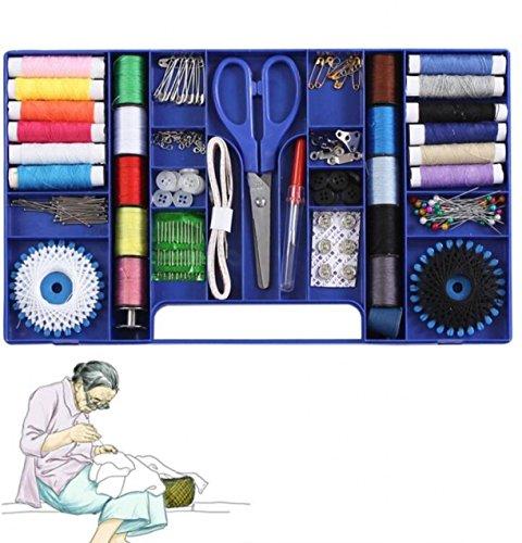 CHENGYIDA Multifunción Caja de Coser Hilo de Coser Puntadas Agujas Herramienta Set de Botones de Tela Artesanía Tijera Viaje Kits de Coser Cas